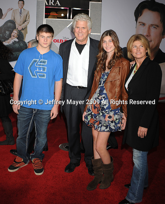 "HOLLYWOOD, CA. - November 09: Barry Bostwick and family arrive at the ""Old Dogs"" Premiere at the El Capitan Theatre on November 9, 2009 in Hollywood, California."