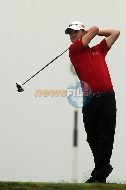Evan Griffith (WALES) on the 11th tee on the Final Day at the 2012 Boys Home Internationals at Co.Louth Golf Club in Baltray, Co.Louth...(Photo credit should read Jenny Matthews/NEWSFILE)...