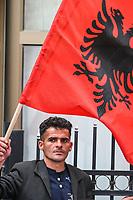 KOSOVO Pristina 9 maggio 2008  Manifestazione di protesta del movimento nazionalista albanese-kosovaro Vetevendosje ( Autodeterminazione)