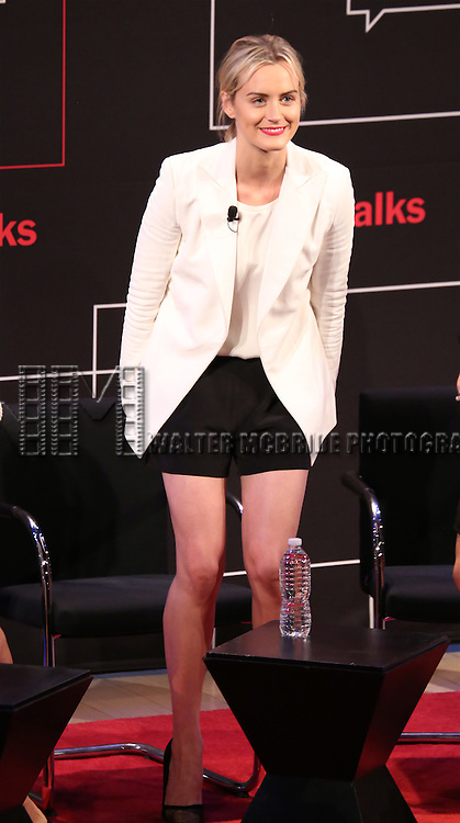 Taylor Schilling on stage at 'TimesTalks: Powerful Women of TV' at Times Center on July 24, 2014 in New York City.
