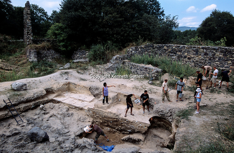 Dmanisi, Georgia Homo Erectus site, 1.8 million year old hominins, excavation