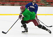 Luke Esposito (Harvard - 9) - The Harvard University Crimson practiced on Friday, October 22, 2013, at Bright-Landry Hockey Center in Cambridge, Massachusetts.
