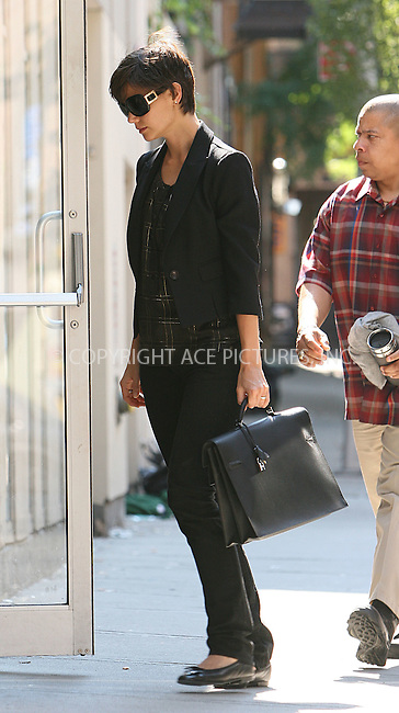 WWW.ACEPIXS.COM . . . . .  ....August 10 2008, New York City....Actress Katie Holmes arriving at play rehersals on August 10 2008 in New York City.....Please byline: NANCY RIVERA- ACE PICTURES.... *** ***..Ace Pictures, Inc:  ..tel: (646) 769 0430..e-mail: info@acepixs.com..web: http://www.acepixs.com