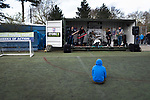 Ipswich Town 0, Oxford United 1, 22/02/2020. Portman Road, SkyBet League One. A home fan watching a band performing in the Fan Zone outside the stadium before Ipswich Town play Oxford United in a SkyBet League One fixture at Portman Road. Both teams were in contention for promotion as the season entered its final months. The visitors won the match 1-0 through a 44th-minute Matty Taylor goal, watched by a crowd of 19,363. Photo by Colin McPherson.