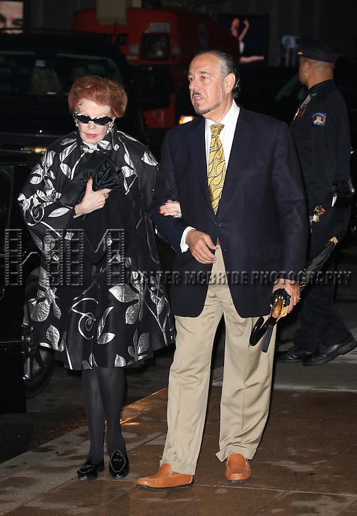 Arlene Dahl & Husband Marc Rosen attending the Memorial To Honor Marvin Hamlisch at the Peter Jay Sharp Theater in New York City on 9/18/2012.