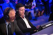 Danish Fight Night.<br /> Frederiksberg Hallerne 29/4-2016.<br /> Tidligere bokser Mads Larsen kommenterer kampene for TV2