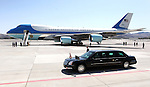 President Barack Obama leaves the Reno-Tahoe International Airport, in Reno, Nev. on Friday, May 11, 2012. (AP Photo/Cathleen Allison)