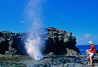 Tourist gazes at the Nakalele blowhole