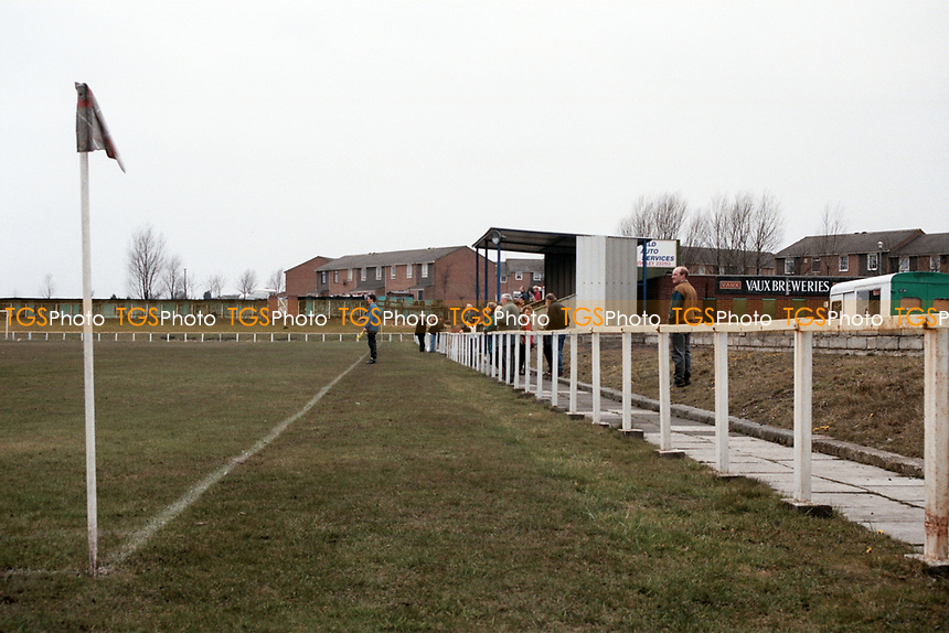 General view of Annfield Plain FC Football Ground, Derwent Park, Annfield Plain, County Durham, pictured on 7th April 1996