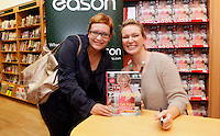 "*** NO FEE PIC ***.01/10/2011.Eason Ireland's leading retailer of books stationery, magazines & lots more hosted a book sigining by best selling cookery writer & TV cook Rachel Allen who signed copies of her new book "" Easy Meals"" for fan Barbora Tomeckova from the City Centre .at Eason O' Connell St, Dublin..Photo: Gareth Chaney Collins"