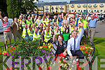 Yvonne Quill and Cahairleach John Joe Culloty and the hard workers celebrate Killarney winning the Regional, the County and the Gold Medal at the National Tidy towns awards on Tuesday