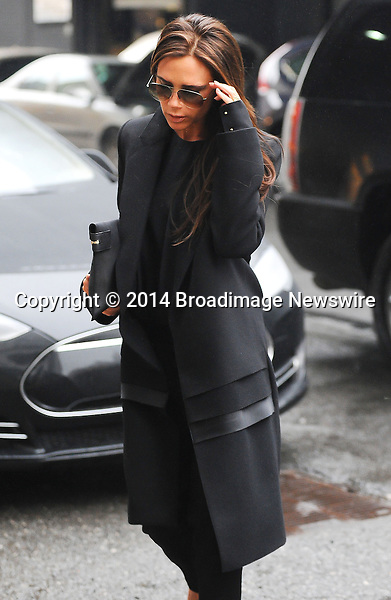 Pictured: Victoria Beckham<br /> Mandatory Credit &copy; Jayme Oak/Broadimage <br /> Victoria Beckham visits an Art Gallery in New York City<br /> <br /> 1/11/14, New York, New York, United States of America<br /> <br /> Broadimage Newswire<br /> Los Angeles 1+  (310) 301-1027<br /> New York      1+  (646) 827-9134<br /> sales@broadimage.com<br /> http://www.broadimage.com