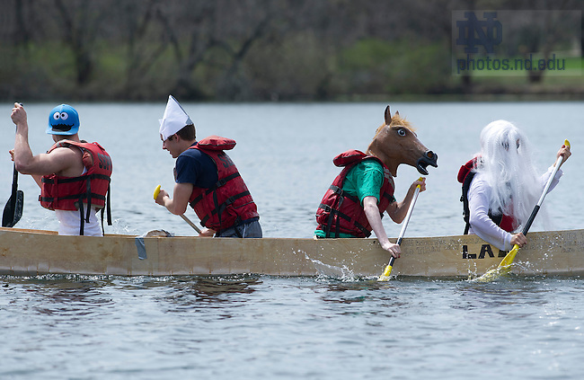 April 27, 2013; 2013 Fisher Regatta on St. Mary's Lake. Photo by Barbara Johnston/University of Notre Dame