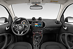 Stock photo of straight dashboard view of 2020 Smart EQ-fortwo Comfort-Plus 3 Door Hatchback Dashboard
