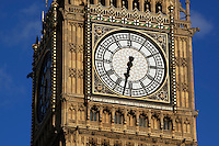 Great Britain, England, London: Close up of clock on Big Ben