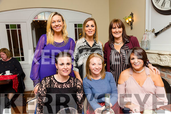 Paula O'Regan's farewell dinner with work colleagues at Denny lane on Saturday, paula's leaving Cumann Iosaef  Childcare and going to Childplay Ardfert Front l-r Jean Andrews, Paula O'Regan, Doreen O'Connell Back l-r Brenda O'Regan, Trisha Moran and Sharon Cronin