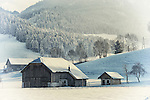 An Old Farm in the winter. Austria, Europe