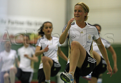 20 04 2011  Womens national football team Germany Athletics and Coordination training in Cologne Lena GoeBling Germany
