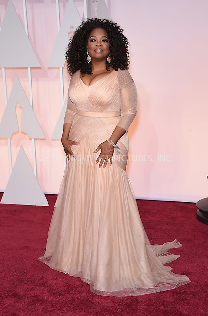 WWW.ACEPIXS.COM<br /> <br /> February 22 2015, LA<br /> <br /> Oprah Winfrey arriving at the 87th Annual Academy Awards at the Hollywood &amp; Highland Center on February 22, 2015 in Hollywood, California<br /> <br /> <br /> By Line: Z15/ACE Pictures<br /> <br /> <br /> ACE Pictures, Inc.<br /> tel: 646 769 0430<br /> Email: info@acepixs.com<br /> www.acepixs.com