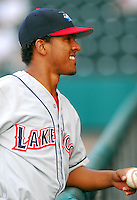 15 Aug 2007:  Antonio Bastardo of the Lakewood BlueClaws, Class A affiliate of the Philadelphia Phillies, in a game against the Greenville Drive at West End Field in Greenville, S.C. Photo by:  Tom Priddy/Four Seam Images
