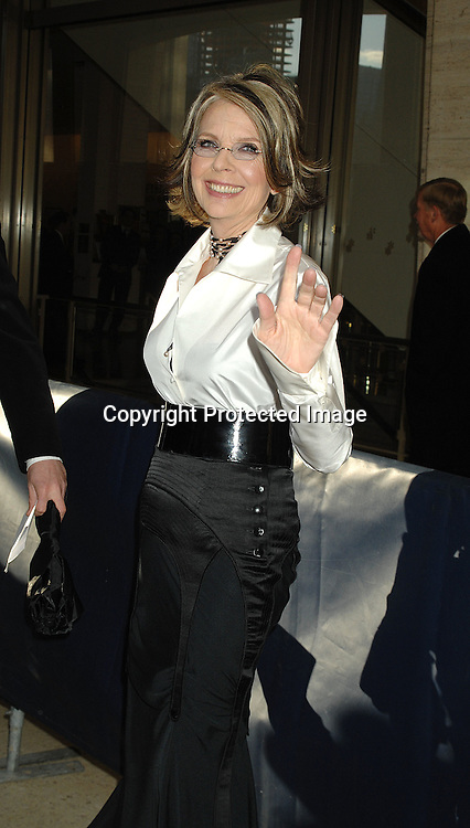Diane Keaton ..arriving at the Film Society of Lincoln Center's 34th  Gala Tribute to Diane Keaton on April 9, 2007 ...Robin Platzer, Twin Images