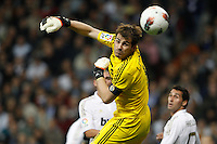 08.04.2012 SPAIN -  La Liga matchday 32th  match played between Real Madrid CF vs Valencia (0-0) and falls to 4 points behind Barcelona, at Santiago Bernabeu stadium. The picture show Iker Casillas (spanish goalkeeper of Real Madrid)