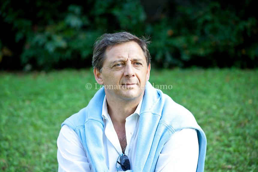 Monticello Brianza (Lecco), Italy, October 2009. Arturo Buongiovanni, noir writer.