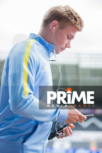 Kevin De Bruyne of Manchester City arrives for the EPL - Premier League match between Swansea City and Manchester City at the Liberty Stadium, Swansea, Wales on 24 September 2016. Photo by Mark  Hawkins.