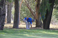 Adam Bland (AUS) in action on the 1st during Round 1 of the ISPS Handa World Super 6 Perth at Lake Karrinyup Country Club on the Thursday 8th February 2018.<br /> Picture:  Thos Caffrey / www.golffile.ie<br /> <br /> All photo usage must carry mandatory copyright credit (&copy; Golffile | Thos Caffrey)