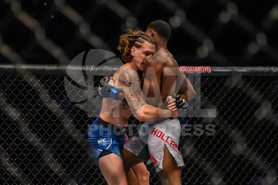 BOSTON, EUA, 18.10.2019 - UFC-BOSTON - Lutadores Brendan Allen (vermelho) e Kevin Holland (azul) durante UFC Fight Night no Td Garden em Boston no Estado de Massachusetts nos Estados Unidos na noite desta sexta-feira, 18. (Foto: Vanessa Carvalho/Brazil Photo Press)