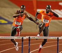 Isa Phillips(573) ran 48.79sec. while Kerron Clement(639) ran 49.10sec. at the Jamaica International Invitational Meet at the National Stadium, Kingston, Jamaica on Saturday May 2nd. 2009. Photo by Errol Anderson, The Sporting Image.net