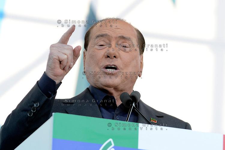 Roma, 19 Ottobre 2019<br /> Silvio Berlusconi,<br /> Orgoglio italiano, manifestazione della Lega e del centro destra a San Giovanni, contri il governo