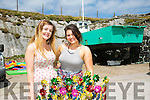 l-r  Rebecca O'Connell  and Laura Enright from Glin at the Maharees Regatta on Sunday