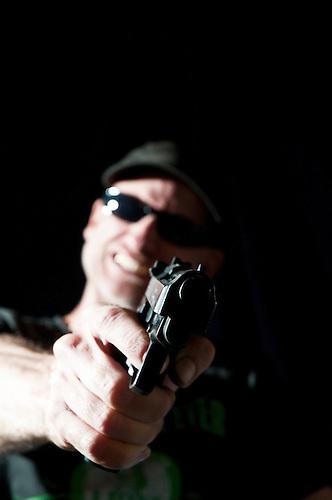 White criminal. shot in studio