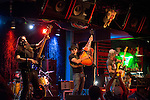 (From left) Adam Kowalski, Eddie Spaghetti, Chris Von Streicher and Marty Chandler of the Supersuckers perform at Dan's Silver Leaf in Denton, Texas.