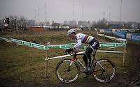 U23 CX World Champion Joris Nieuwenhuis (NED/Sunweb) on his way to yet another solo win<br /> <br /> U23 men's race<br /> CX Superprestige Noordzeecross <br /> Middelkerke / Belgium 2017