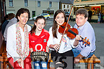Martina, Eimear, Caoimhe and Martin Flannery Rockchapel playing tunes at the Con Curtin festival in Brosna on Saturday evening