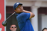 KK LIMBHASUT (THA) watches his tee shot on 12 during Rd 4 of the Asia-Pacific Amateur Championship, Sentosa Golf Club, Singapore. 10/7/2018.<br /> Picture: Golffile | Ken Murray<br /> <br /> <br /> All photo usage must carry mandatory copyright credit (© Golffile | Ken Murray)
