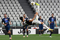 Cristiano Ronaldo of Juventus performs a bycicle kick during the Serie A football match between Juventus FC and US Lecce at Juventus stadium in Turin  ( Italy ), June 26th, 2020. Play resumes behind closed doors following the outbreak of the coronavirus disease. Photo Andrea Staccioli / Insidefoto