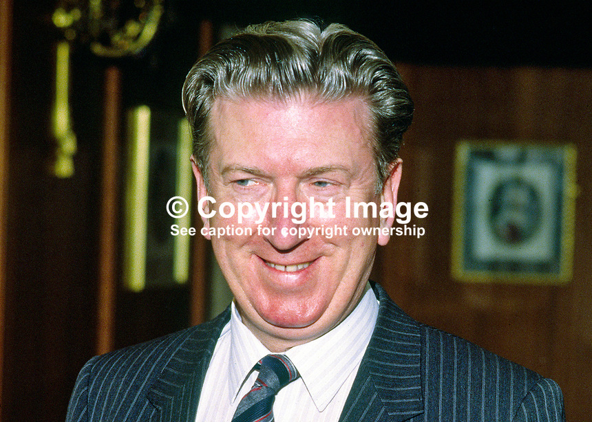 Gordon S Duffield, Belfast journalist and PR consultant. Ref: 1985030037..Copyright Image from Victor Patterson, 54 Dorchester Park, Belfast, UK, BT9 6RJ..Tel: +44 28 9066 1296.Mob: +44 7802 353836.Voicemail +44 20 8816 7153.Skype: victorpattersonbelfast.Email: victorpatterson@mac.com.Email: victorpatterson@ireland.com (back-up)..IMPORTANT: If you wish to use this image or any other of my images please go to www.victorpatterson.com and click on the Terms & Conditions. Then contact me by email or phone with the reference number(s) of the image(s) concerned.