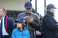 Spectators during the Greene King IPA Championship match between London Scottish Football Club and Jersey at Richmond Athletic Ground, Richmond, United Kingdom on 18 February 2017. Photo by David Horn / PRiME Media Images.
