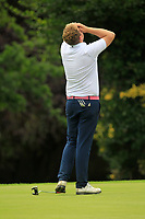 Gary Ward (Kinsale) on the 18th green during the AIG Barton Shield Munster Final 2018 at Thurles Golf Club, Thurles, Co. Tipperary on Sunday 19th August 2018.<br /> Picture:  Thos Caffrey / www.golffile.ie<br /> <br /> All photo usage must carry mandatory copyright credit (© Golffile   Thos Caffrey)