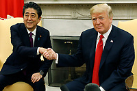 President Donald Trump Meets with with Prime Minister of Japan Shinzo Abe