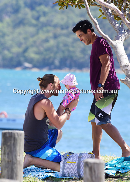 22 February 2017 SYDNEY AUSTRALIA<br /> WWW.MATRIXPICTURES.COM.AU<br /> <br /> EXCLUSIVE PICTURES<br /> Home &amp; Away filming at Palm Beach with James Stewart, a baby and George Mason,  on 23 January 2017 .<br /> <br /> *No internet without clearance*.<br /> <br /> MUST CALL PRIOR TO USE <br /> <br /> +61 2 9211-1088. <br /> <br /> Matrix Media Group.Note: All editorial images subject to the following: For editorial use only. Additional clearance required for commercial, wireless, internet or promotional use.Images may not be altered or modified. Matrix Media Group makes no representations or warranties regarding names, trademarks or logos appearing in the images.