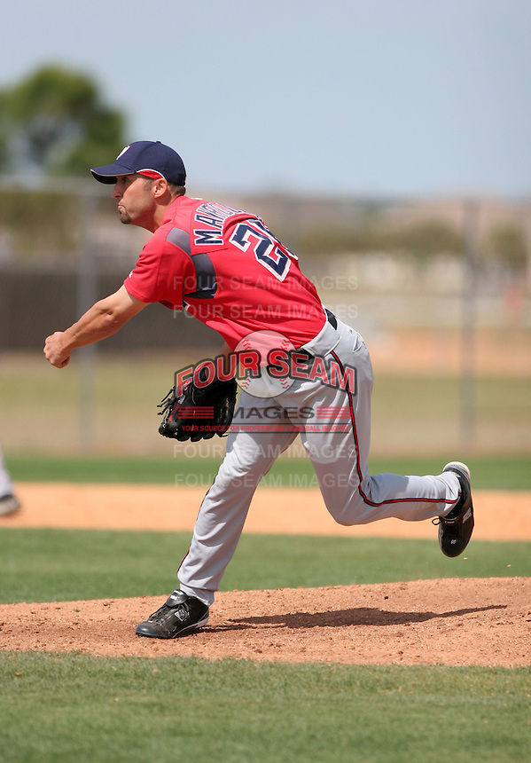 Washington Nationals minor leaguer Coby Mavroulis during Spring Training at the Carl Barger Training Complex on March 20, 2007 in Melbourne, Florida.  (Mike Janes/Four Seam Images)