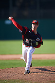 Batavia Muckdogs relief pitcher Reilly Hovis (28) during the second game of a doubleheader against the Auburn Doubledays on September 4, 2016 at Dwyer Stadium in Batavia, New York.  Batavia defeated Auburn 6-5. (Mike Janes/Four Seam Images)