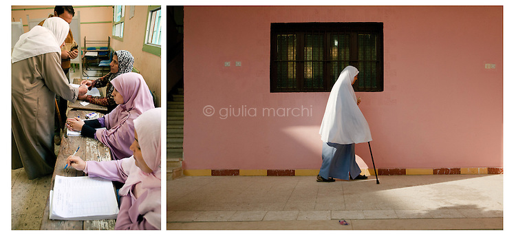 Egypt / Zagazig / 15.12.2012 / Tens of thousands of people descended on polling stations across Egypt to vote on the highly controversial draft constitution, which has been a source of intense political protest in recent weeks. <br /> <br /> © Giulia Marchi