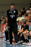 09.11.2019, Hansehalle Luebeck, GER,  2.Bundesliga Handball VfL Luebeck-Schwartau - TV Emsdetten<br /> <br /> im Bild / picture shows<br /> Trainer Daniel Kubes (TV Emsdetten) ist enttäuscht/enttaeuscht<br /> <br /> Foto © nordphoto / Tauchnitz