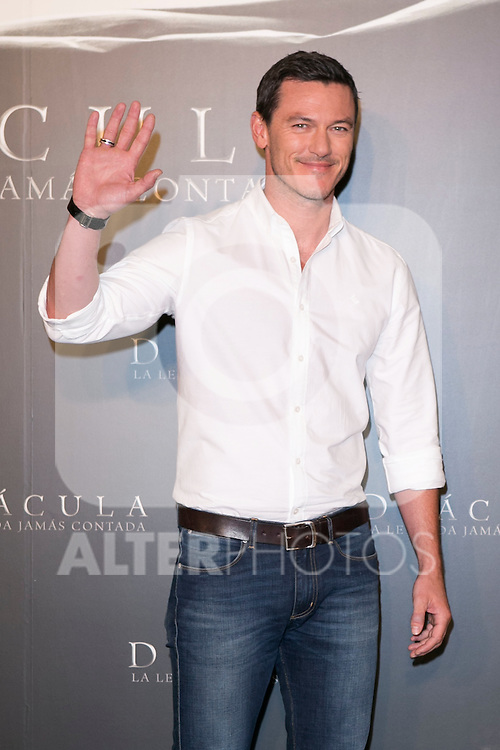 """Luke Evans attend the photocall of the presentation of the Movie """"""""Dracula Untold"""" at Villamagna Hotel in Madrid, Spain. October 21, 2014. (ALTERPHOTOS/Carlos Dafonte)"""