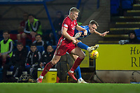 24th November 2019; McDairmid Park, Perth, Perth and Kinross, Scotland; Scottish Premiership Football, St Johnstone versus Aberdeen; Sam Cosgrove of Aberdeen challenges for the ball with Jason Kerr of St Johnstone  - Editorial Use
